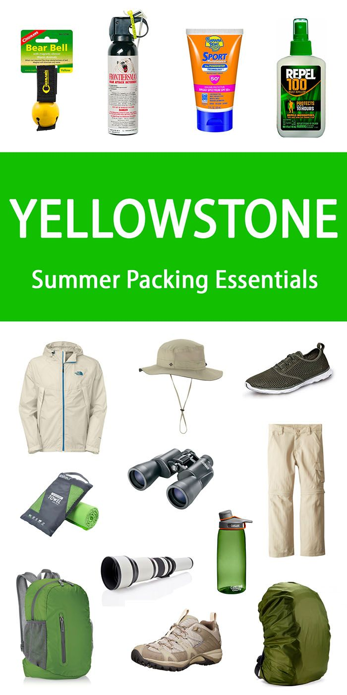Yellowstone packing essentials for summer months. Including tips on what to wear in Yellowstone.