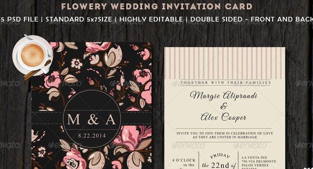 45 Beautiful Wedding Invitation Psd Templates Photoshop And