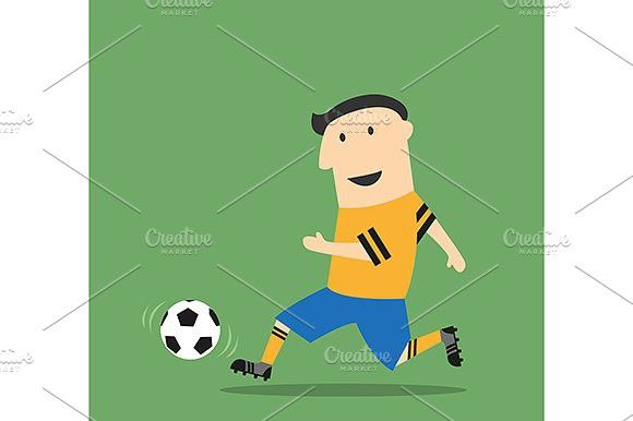 Football Or Soccer Cartoon Player Sport Icon Soccer Football