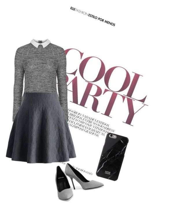 """Greyscale"" by pll-skins ❤ liked on Polyvore featuring Topshop, Chicwish, Pierre Hardy and Native Union"