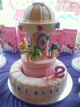 Cake Decorating Greensborough : Hello Kitty Carousel Cake from Manilena Cakes (Http://www.manilena.com) Stalking Manilena ...