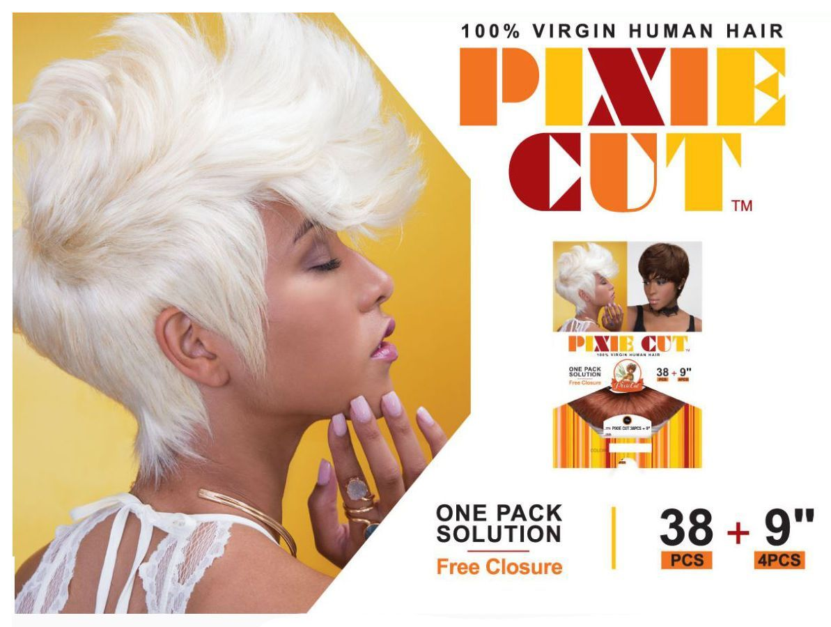 Femi Collection Pixie Cut 100 Virgin Human Hair One Pack Weave