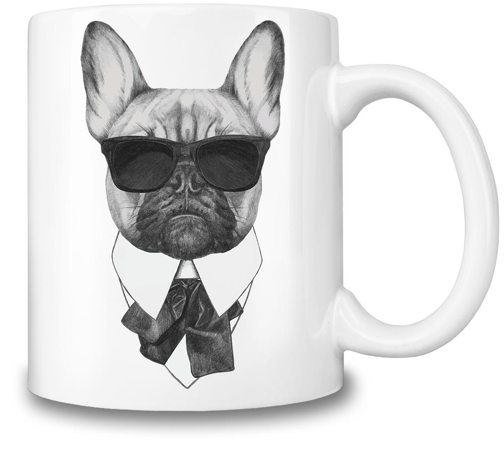French Bulldog Animal mugs, French bulldog, Bulldog