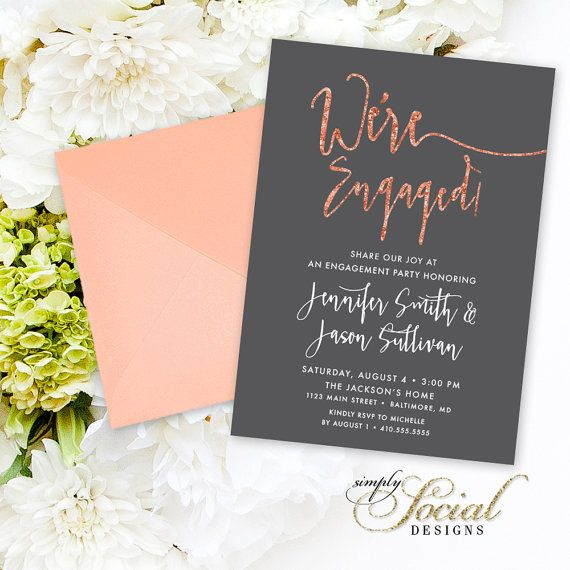Celebrate Printed Invitations – Christmas Engagement Party Invitations