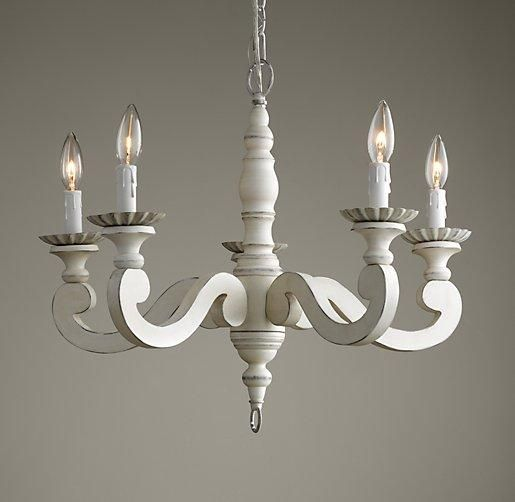 My favorite Lighting Etienne Chandelier I RH Baby and Child – Distressed Chandeliers