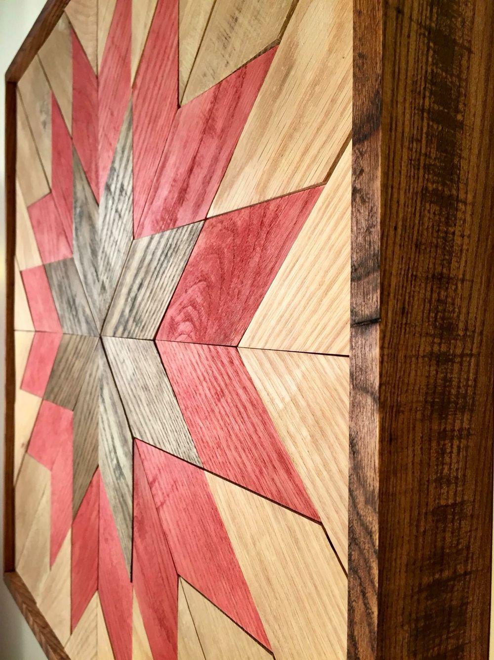 Wood Wall Art - Wooden Wall Hanging Quilt Design, Quilt