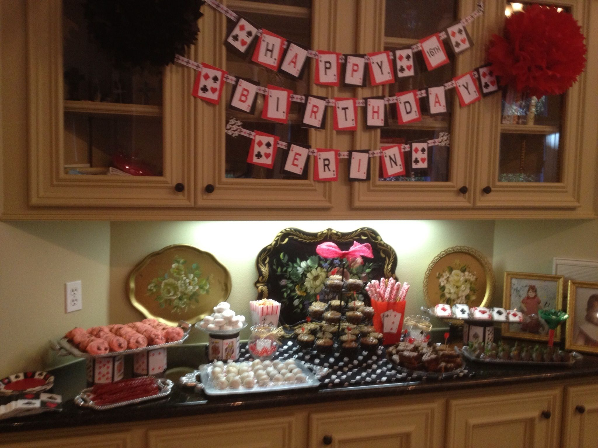Sweet 16 party sweets area party