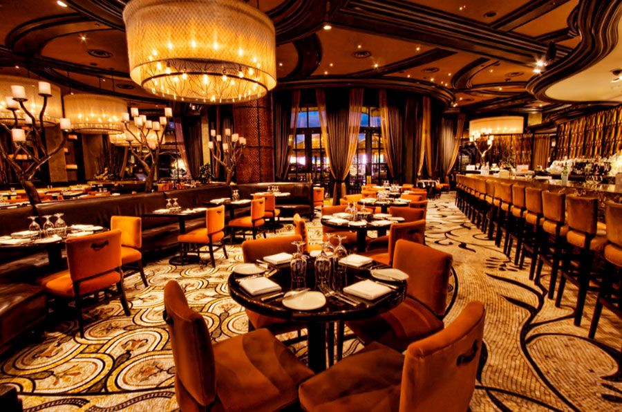 Todd English S Olives Las Vegas Coffee Shop Interior Design Restaurant Interior Design Restaurant Interior