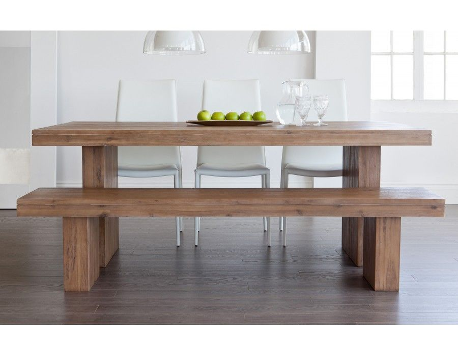 COLOGNE Acacia wood dining table Picnic tables, Solid wood dining