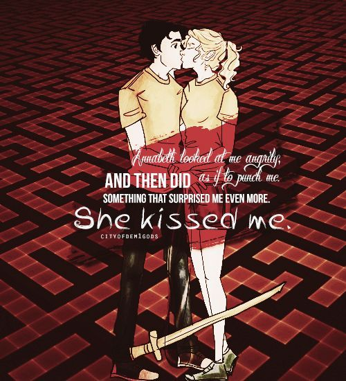 Percy Jackson and Annabeth Chase first kiss The Battle of the ...