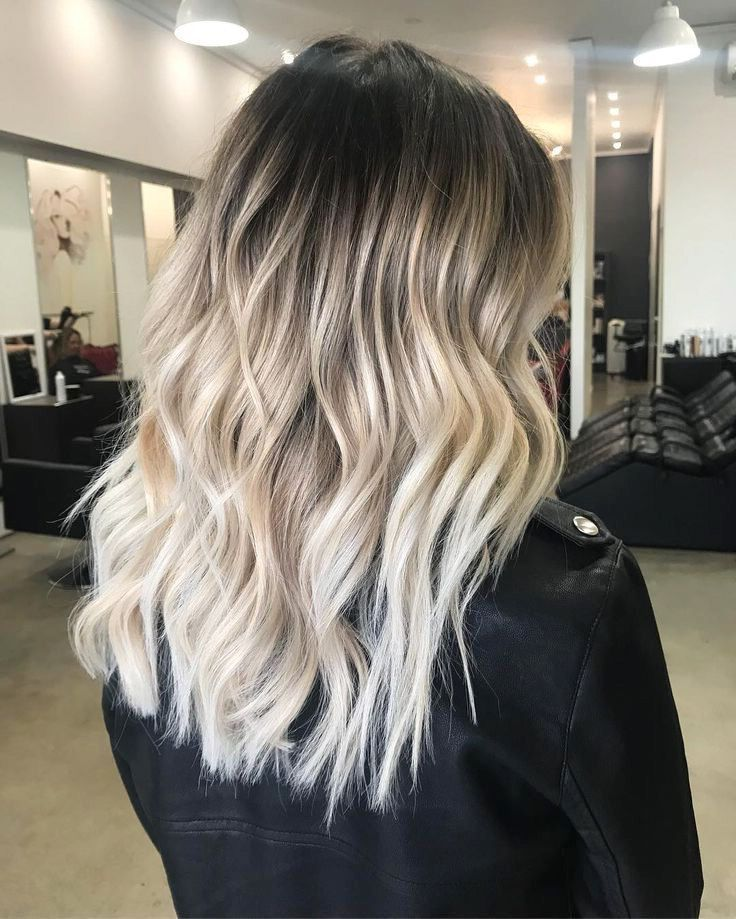 Platinum Blonde with Dark Roots #haircolor