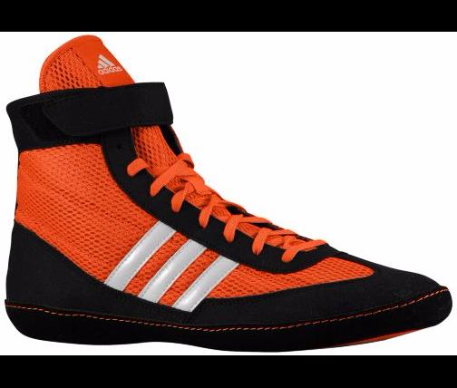 Adidas combattere velocità 4 wrestling arancione / bianco / nero scarpe adidas