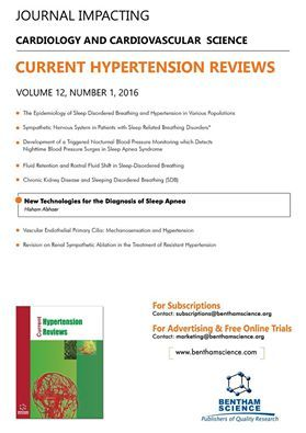 "Highlighted Article Flyer for the journal ""Current Hypertension Reviews"" ‪#‎BenthamScience‬ ‪#‎Hypertension‬"