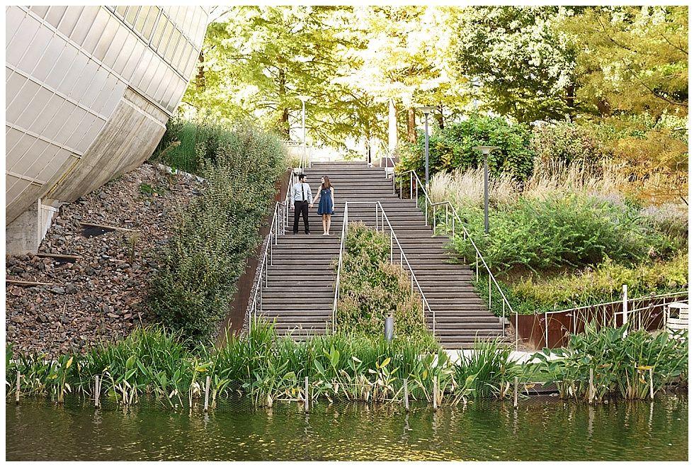 Jennifer + Spencer | Myriad Botanical Garden Engagement | Okc, OK .