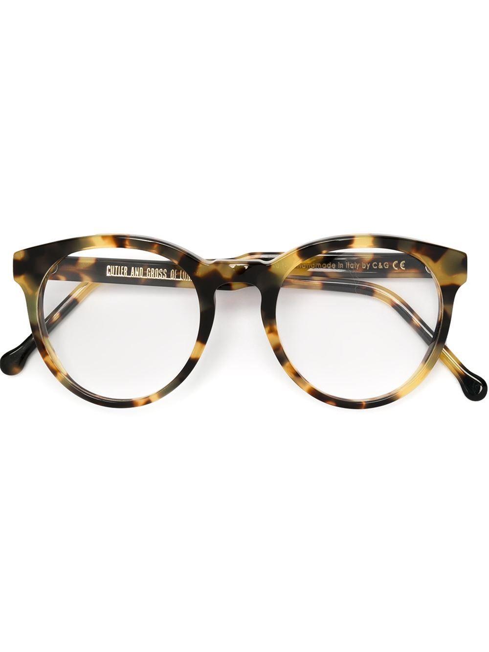 43597de79907 Cutler & Gross Round Frame Glasses - Mode De Vue - Farfetch.com ...