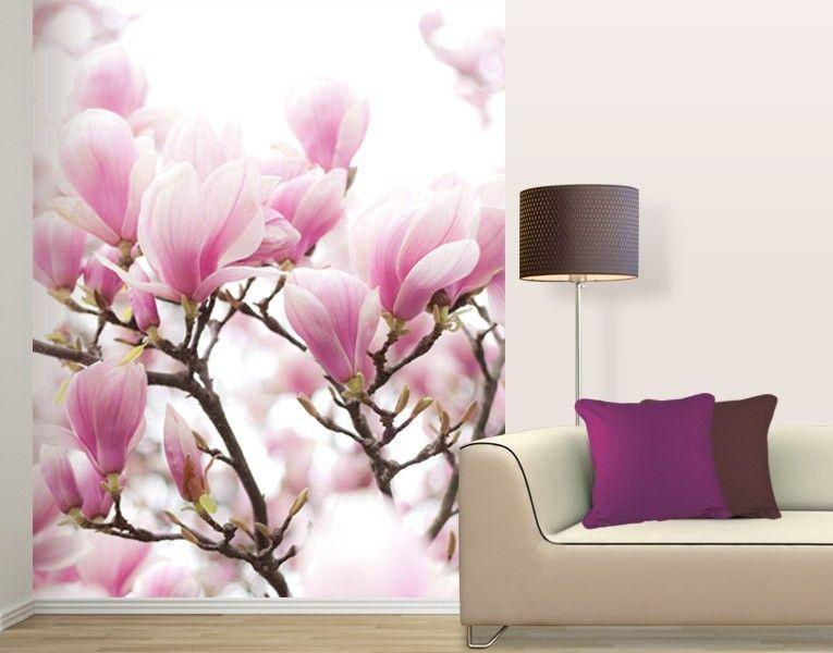 fototapete ein traum aus magnolien tapeten farben. Black Bedroom Furniture Sets. Home Design Ideas