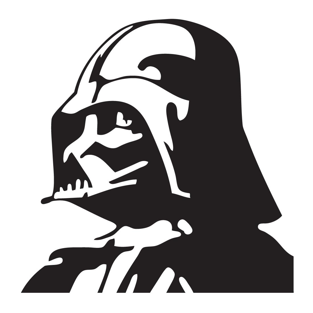 Adhesivo De Vinilo Darth Vader Star Wars Plantillas