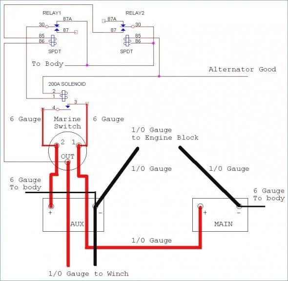 Rv Battery Isolator Wiring Diagram di 2020