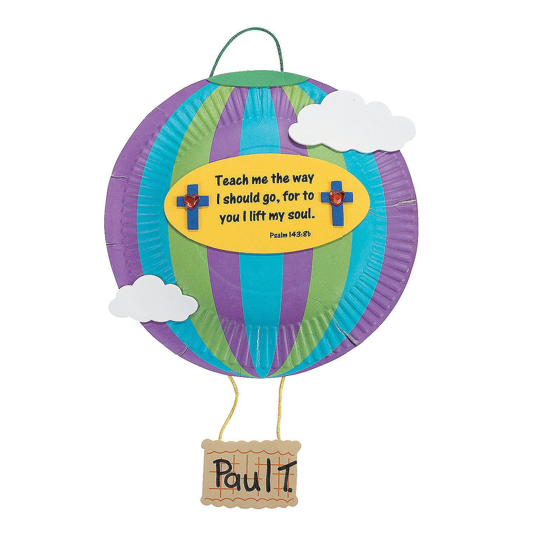 Paper Plate Hot Air Balloon Craft Kit OrientalTrading