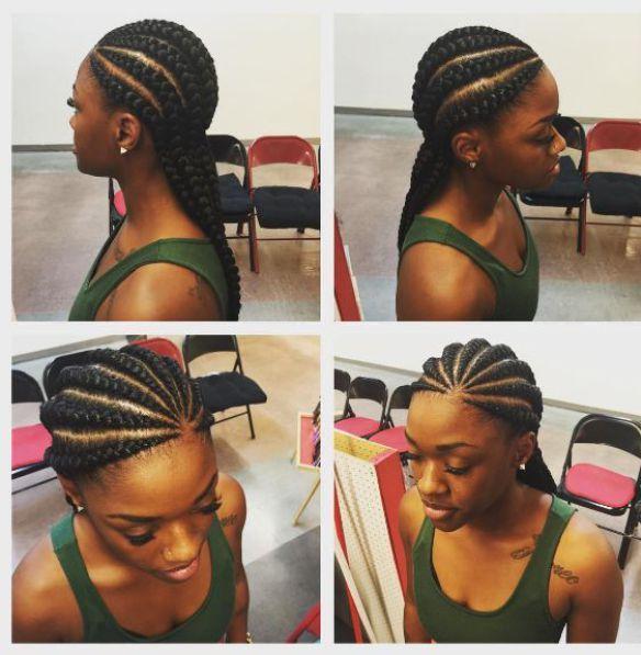 Ghana Braids Ghana Braids With Updo Straight Up Braids Braids