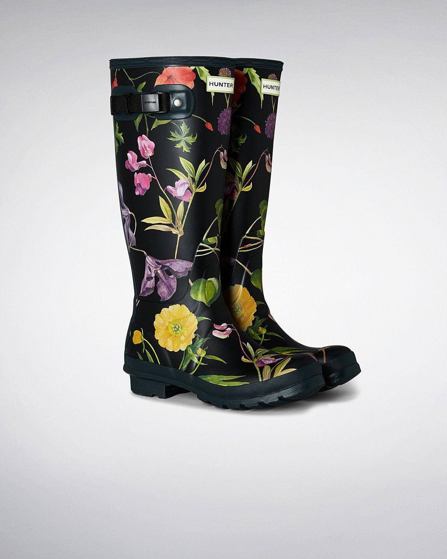 bottes en caoutchouc hautes rhs femme   official hunter boots site
