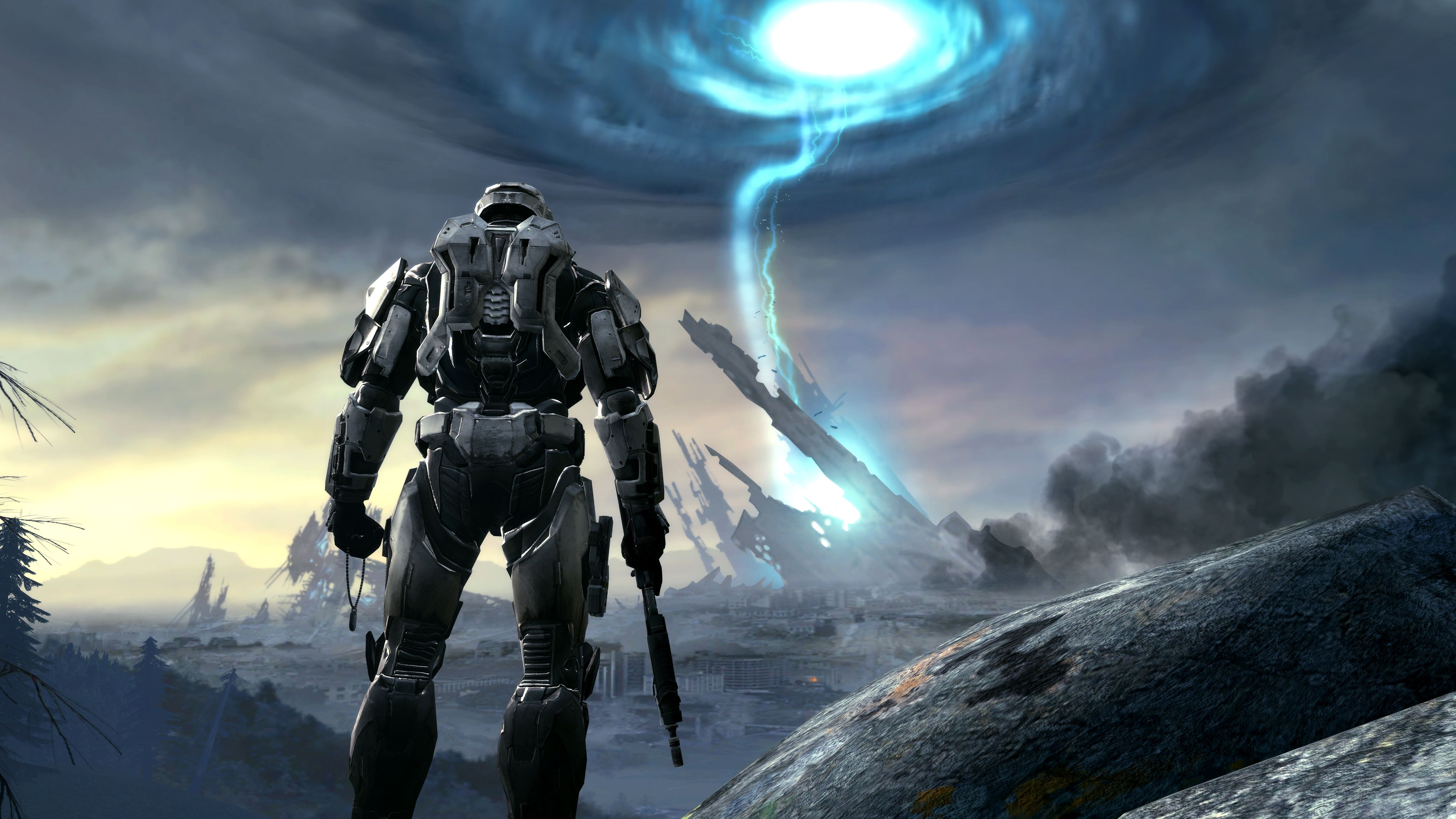 Halo Game Artwork In 4k Hq Wallpaper Portal Creative Halo Game Gaming Wallpapers Hd Halo