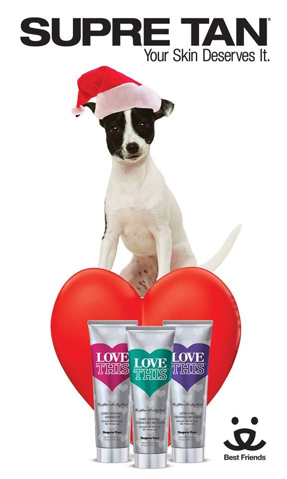 Supre Tan Love This™ mascot Maximus! For every tube sold