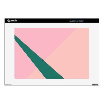 Elegant geometric pastel pink peach green laptop skin - minimal ...