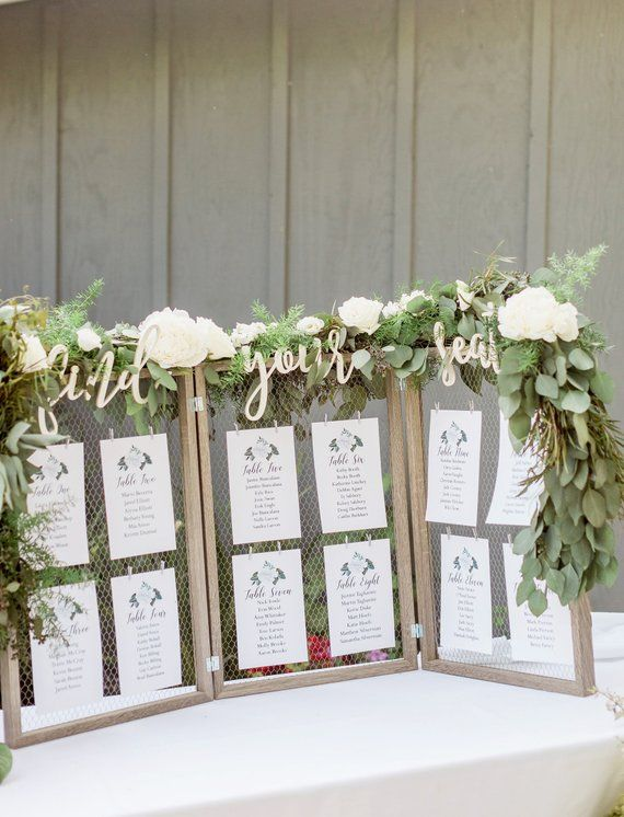 Find Your Seat Escort Card Sign Letters Wooden Cutout Words for Escort Place Cards Display Sign Wedd