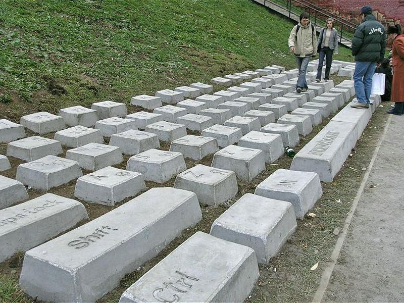 Concrete keyboard