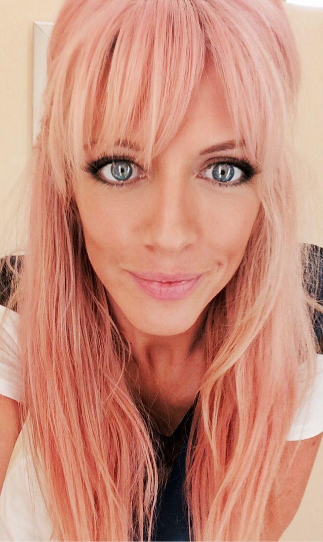 pastel pink hair bangs 2014