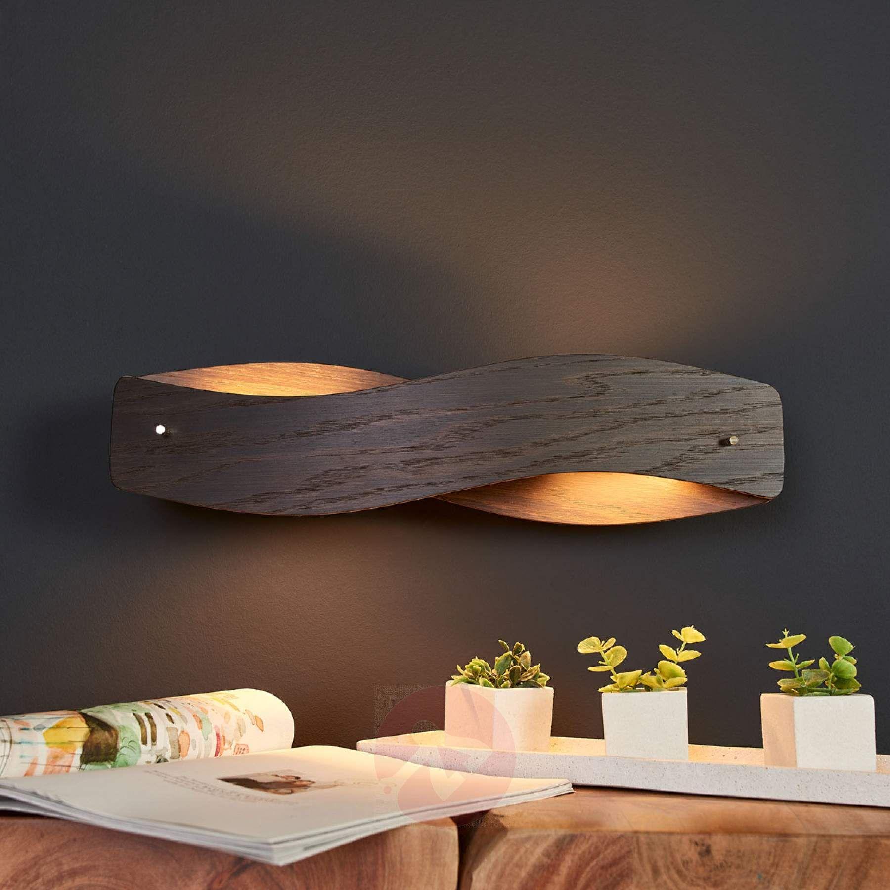 Furnierte LED-Wandleuchte Lian Eiche kolonial-8-8