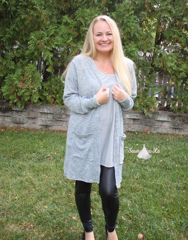 Claire Cardigan Sewing Pattern for Women Maxi Cardigan DIY @seaminglysmitten #fallcardigan