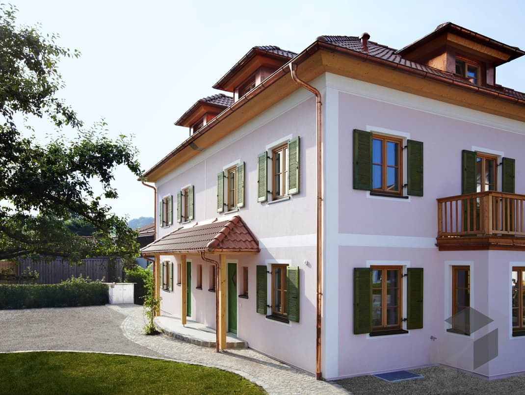 Englisches landhaus fertighaus  Wörthersee (Architekt) von ISARTALER HOLZHAUS | Wohnfläche gesamt ...