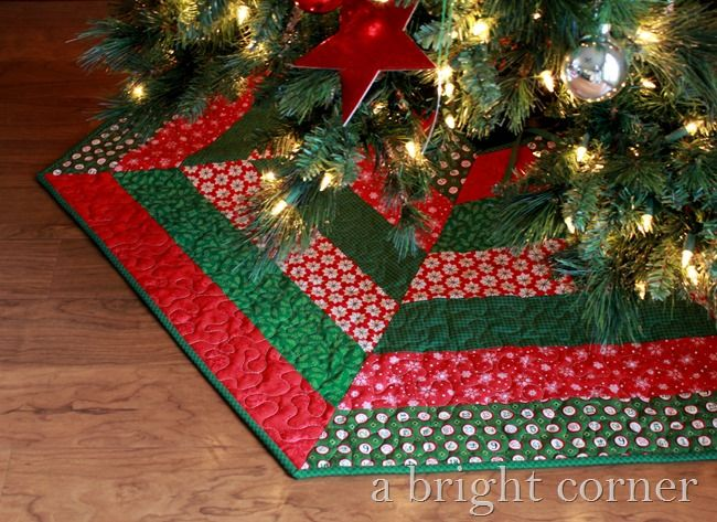 Quilted Christmas Tree Skirts | christmas tree skirts | Pinterest ... : quilted tree skirt patterns - Adamdwight.com