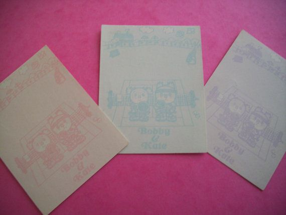 Kawaii Gift Tag Vintage Paper Ephemera Japanese Stationery Sweet Gift Tag Vintage Anime Tag. 80s Bookmark