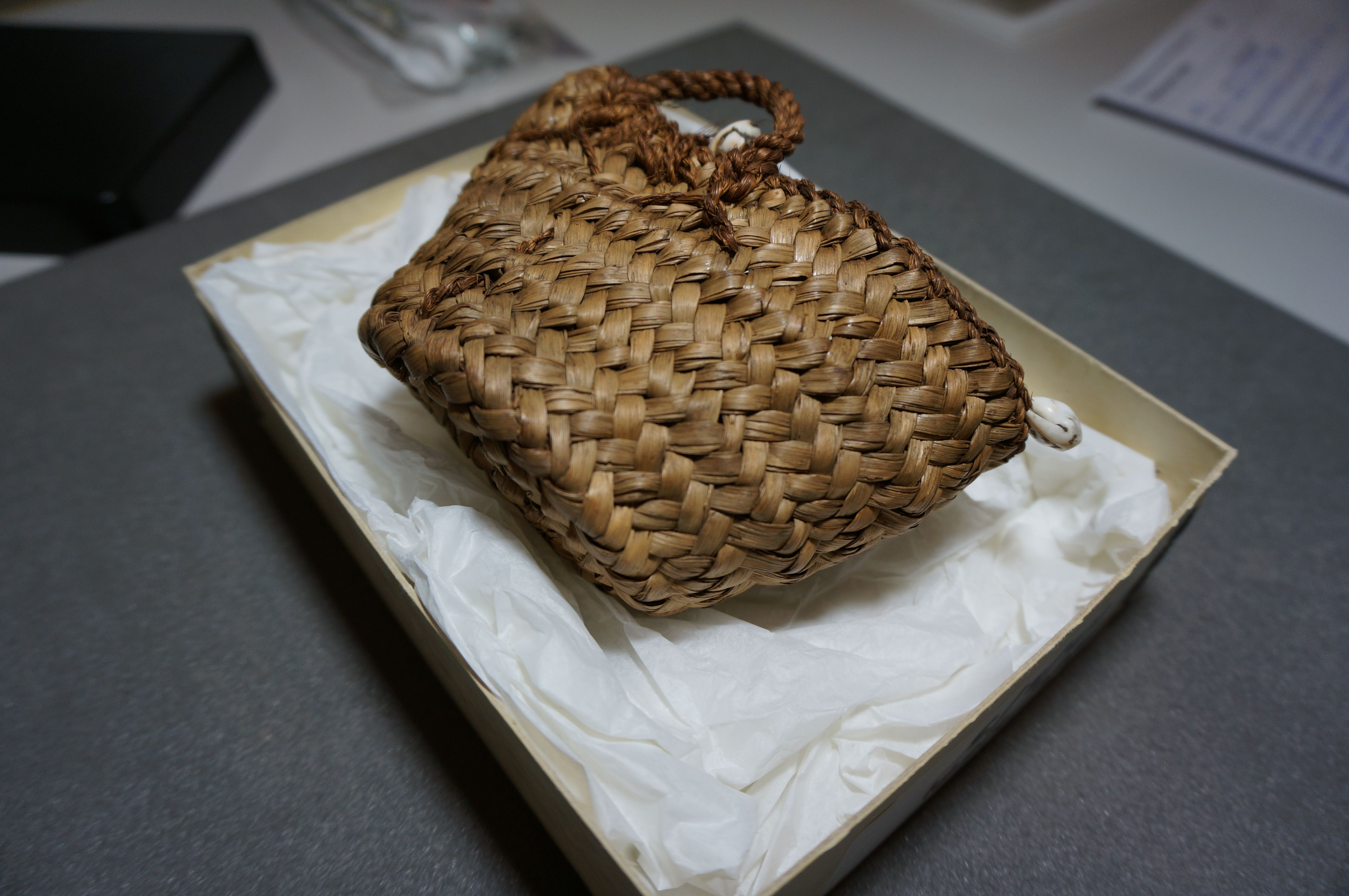 Example of a sewn plait basket from Roman Hawara, Egypt. Petrie Museum, London [UC28048].