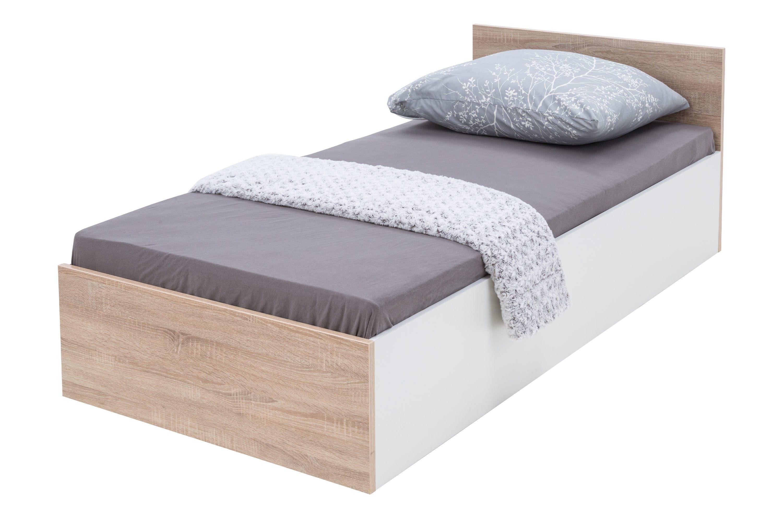 Uno łóżko Z Pojemnikiem Białydąb Sonoma Salony Agata