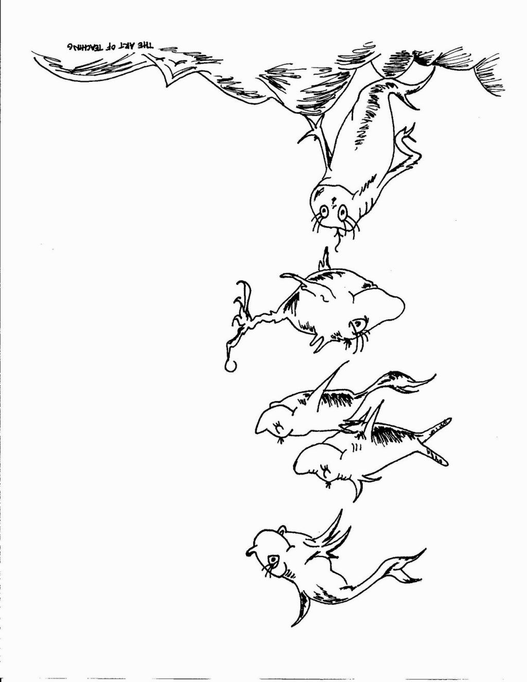 Dr Seuss Coloring Pages One Fish Two Fish Coloring Pages