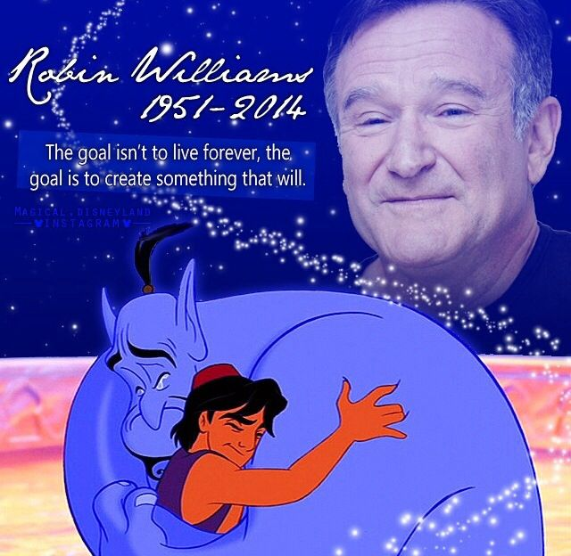 Aladdin And The Genie Will Live Forever In This World And In My Heart Genie Your Free Amen Robin Williams Quotes Disney Aladdin Robin Williams