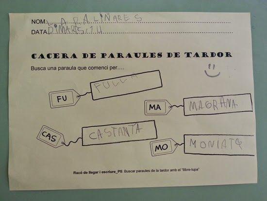 Tresquatreicinc Cacera De Paraules De Tardor Amb El Conte Lupa Tardor Lectura Y Escritura Logopedia