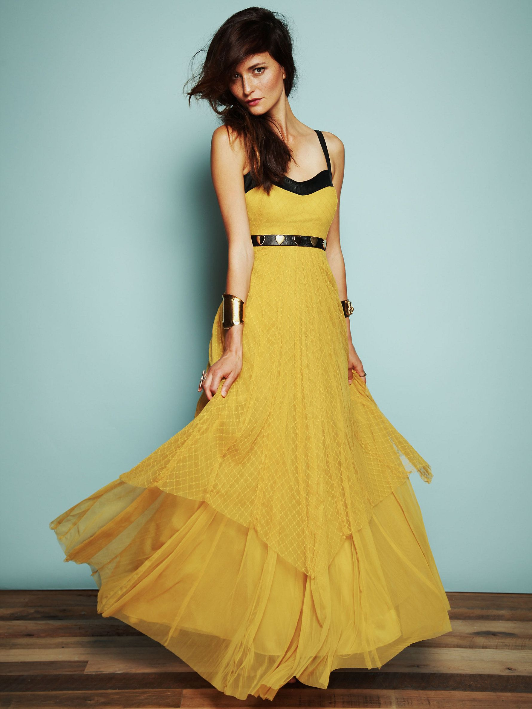 Free People Giannas Limited Edition Leather and Lace Gown at Free ...
