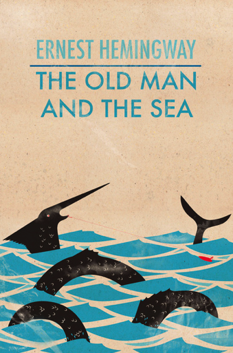 The Old Man and the Sea, vintage cover art