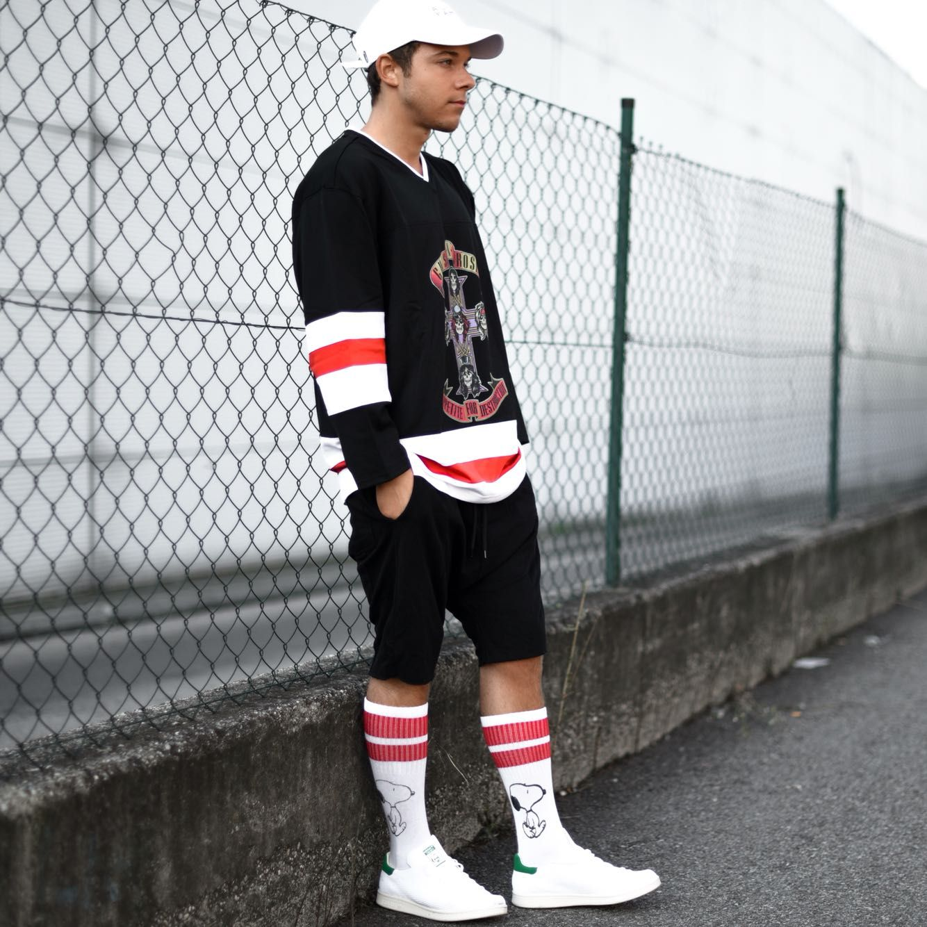 Sports Event If I Were To Go Watch A Hockey Game I D Wear Something Like This The Jersey Shows That I W Mens Outfits Casual Wear For Men Mens Street Style