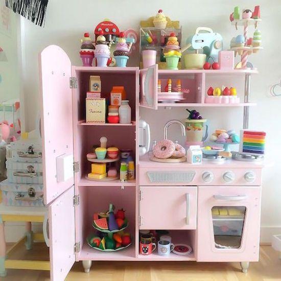 kidkraft toy kitchen wood island pink vintage toys shop online at directtoys nz