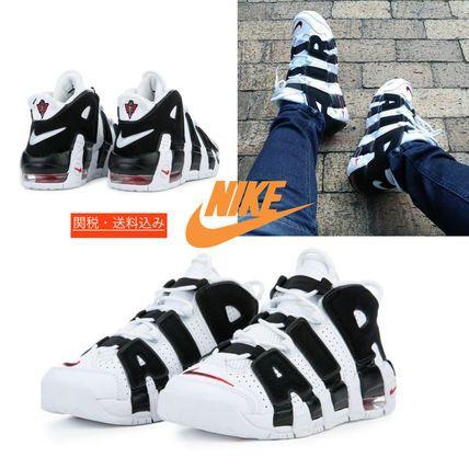 Nike スニーカー 人気No.1 白黒 レディースGSサイズ☆AIR MORE UPTEMPO☆モアテン