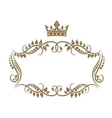Retro Frame With Royal Crown And Flowers For Wedding Or Heraldry Design Sponsored Royal Crown Heraldry Design Creative Typography Design Frame Clipart