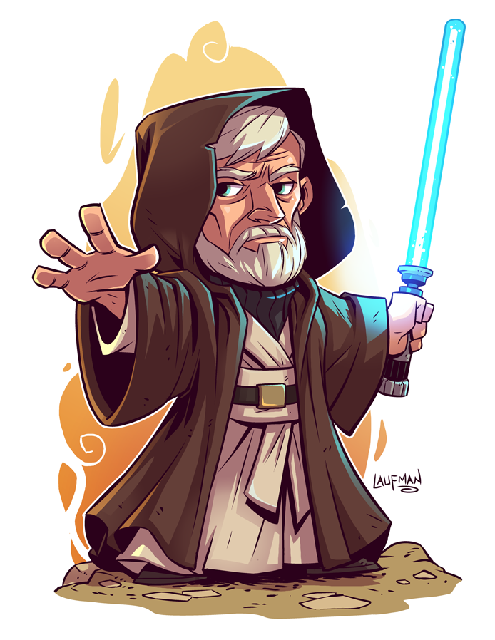 Chibi Obi Wan Kenobi By Derek Laufman Gambar Karakter Karakter Kartun Animasi