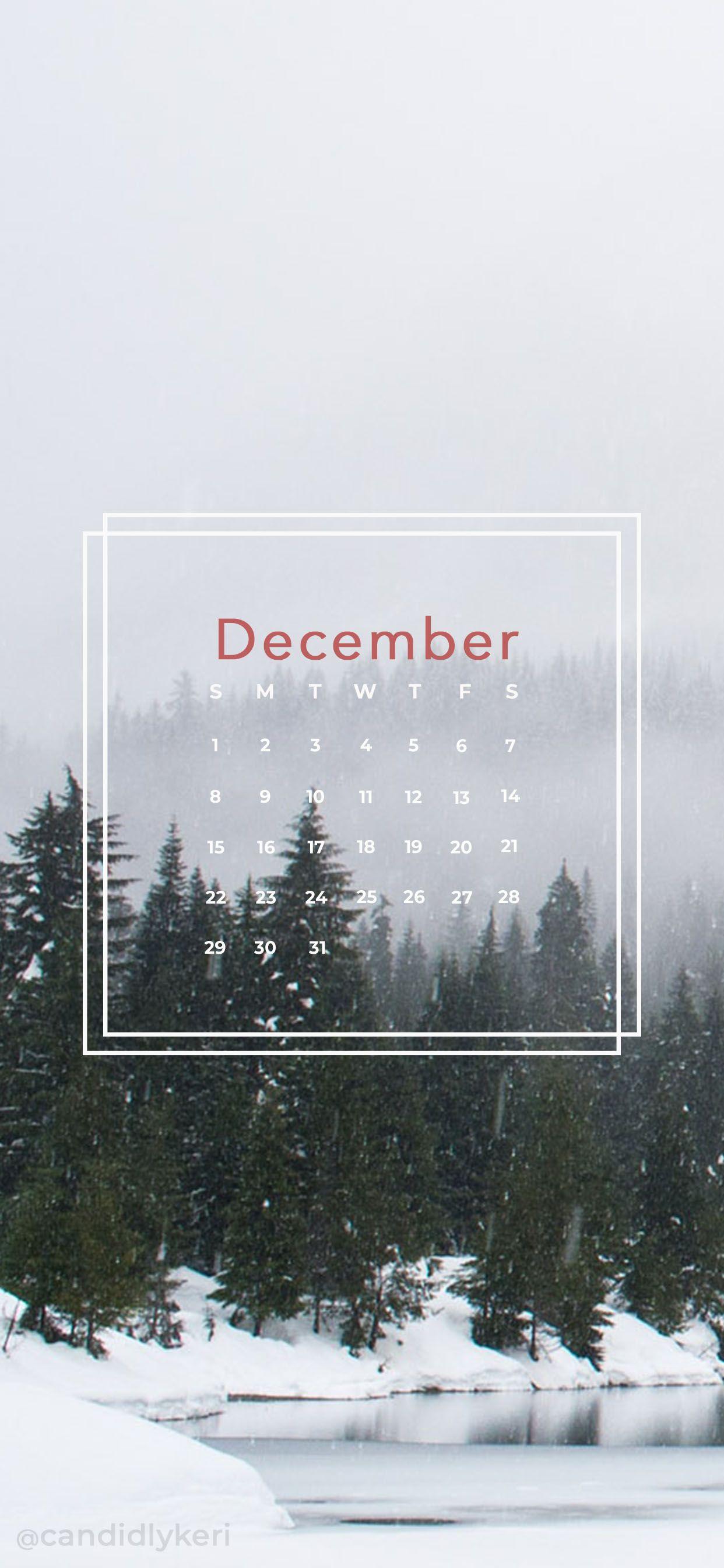 Forest winter wonderland December calendar 2019 wallpaper