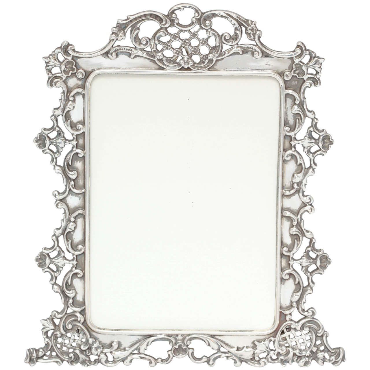 beautiful all sterling silver picture frame silver. Black Bedroom Furniture Sets. Home Design Ideas